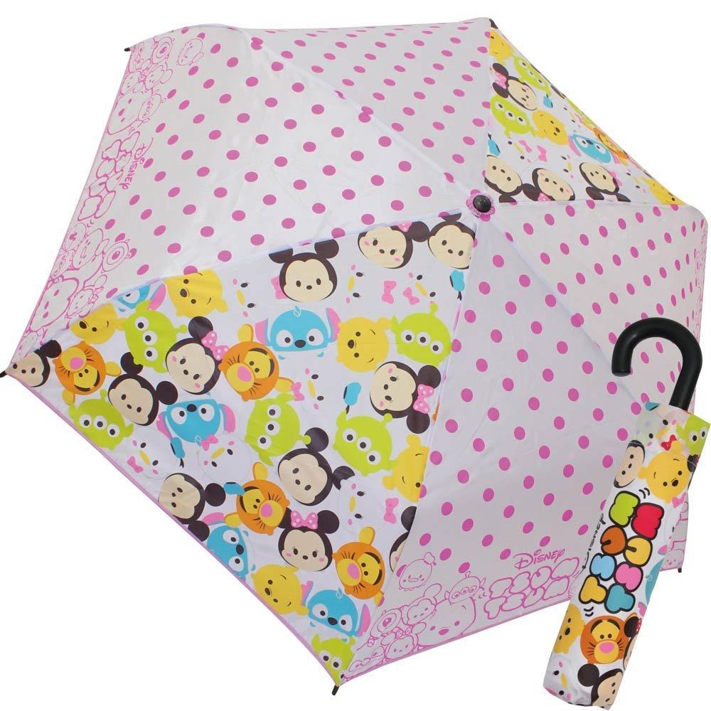 『日本代購品』迪士尼 Tsum tsum兒童折疊傘J手把雨傘 53CM