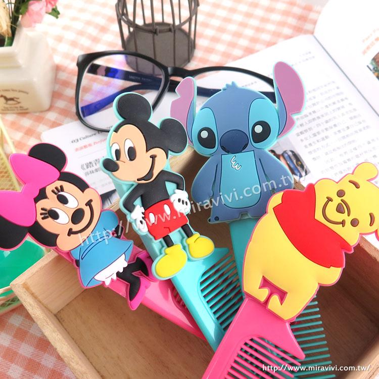【Disney】可愛人物造型扁梳/梳子/隨身梳