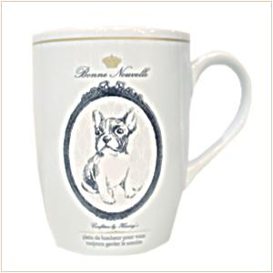 已售完。裕子的店古典法鬥肖像陶瓷馬克杯 (象牙白)【JP1220-19】
