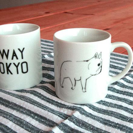 裕子的店。SWAY TOKYO日本製手繪法鬥馬克杯【jp1220-143】