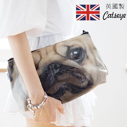 現貨。囧臉狗包。裕子的店英國製Catseye London狗狗印畫防水盥洗/旅行用 化妝包 收納包 附2小內袋 (共4款)【jp1220-94】