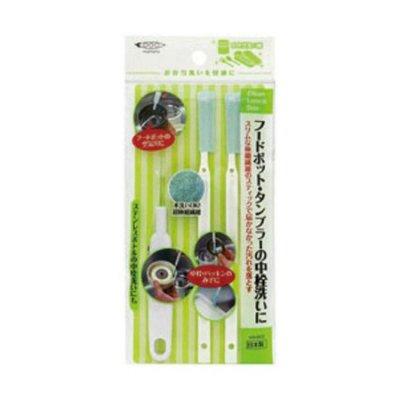 日本製 Mameita 保溫瓶蓋清潔刷3入組 *夏日微風*