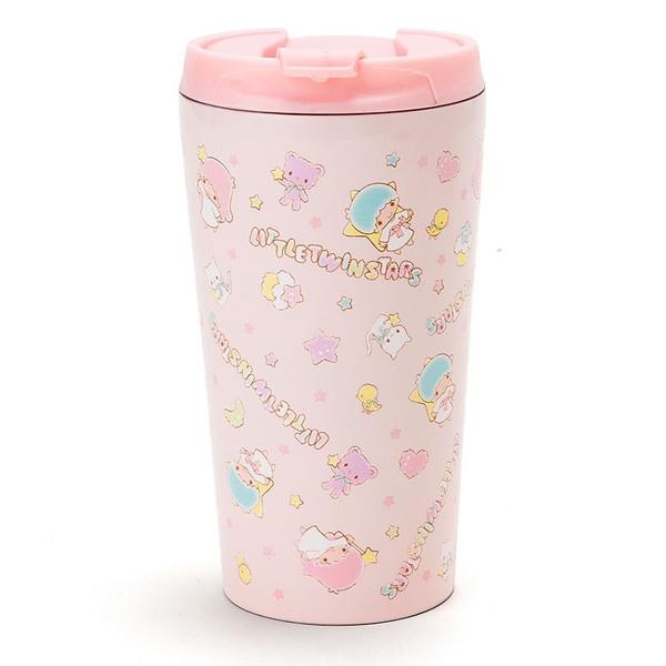 【真愛日本】15071700012手拿杯380ml-TS蛋糕星星粉 三麗鷗家族Kikilala雙子星 水壺 水杯茶壺
