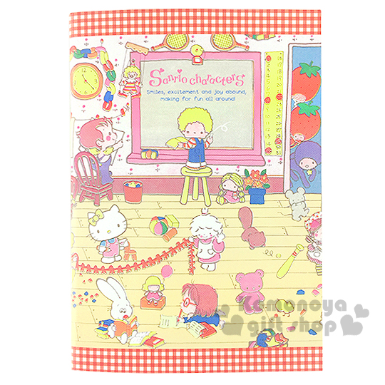 〔小禮堂〕Sanrio大集合 日製筆記本《A5.教室.時鐘.球拍》
