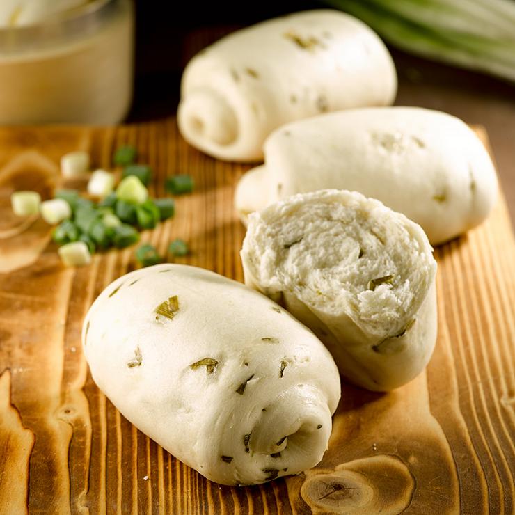 【香蔥饅頭】1包5入(每顆約130克 + / -5克) ▶玉食堂手工養生包子饅頭
