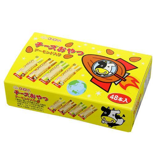 日本代購預購 滿600免運費 日本製扇屋 起司條 起司點心條-杏仁口味 (48入/盒) 790-026