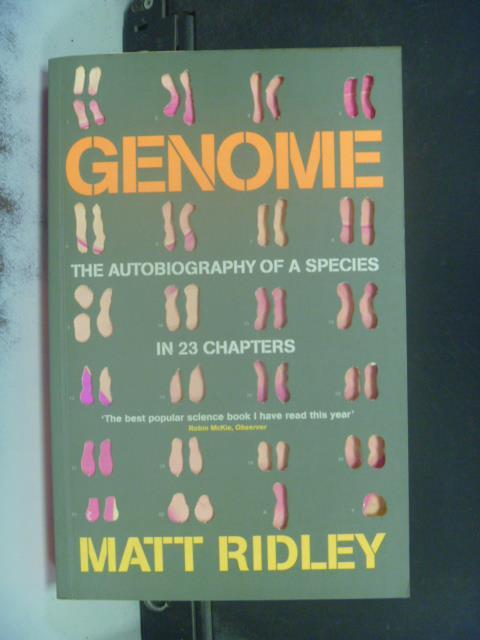 【書寶二手書T1/原文書_KHR】Genome_Matt Ridley