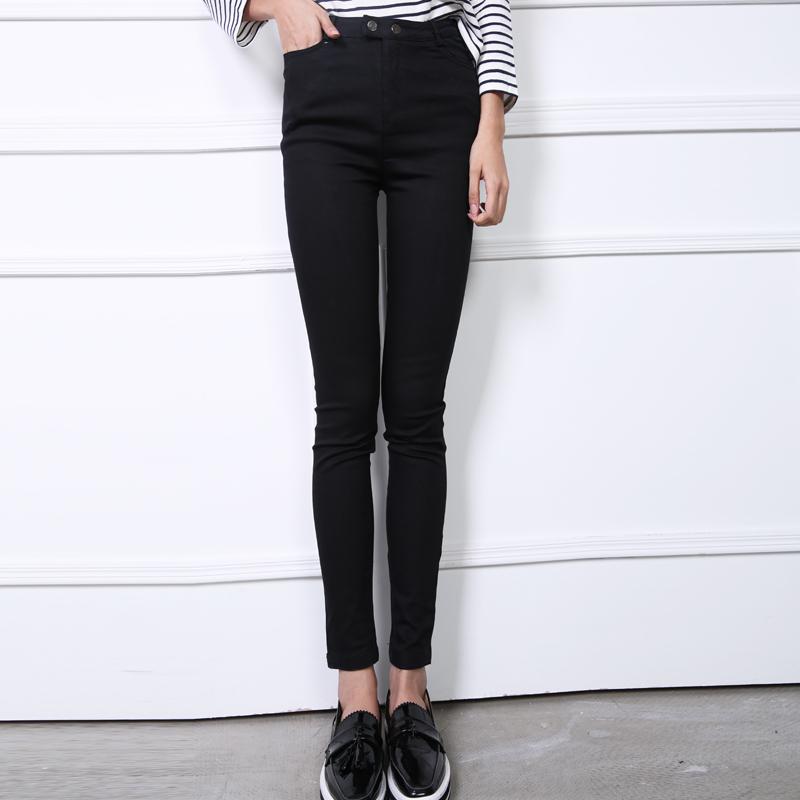 YJY修身顯瘦高腰雙釦九分鉛筆褲[30061]-3色全尺碼