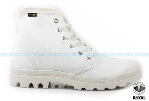 Palladium 新竹皇家 PAMPA HI ORIGINALE 白色 布質 原創經典系列  休閒鞋 高筒 男款 NO.A8507
