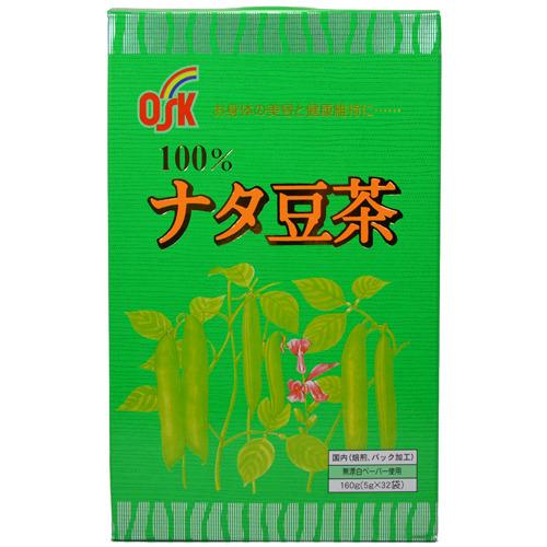 有樂町進口食品 日本進口 人氣茶 小古刀豆茶 OSK ナタ豆茶(なたまめ茶) 5g×32袋 J410 4901027602702