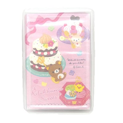 【真愛日本】16011200009  撲克牌-蛋糕  SAN-X 懶熊 奶妹 奶熊 拉拉熊  紙牌  遊戲