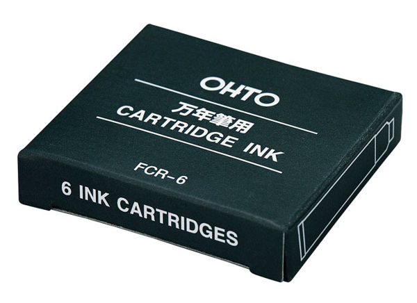 OHTO FCR-06 鋼筆用卡式墨水(黑/藍)