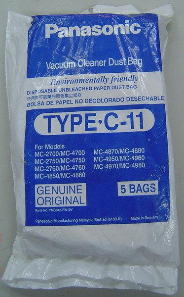 Panasonic 國際 TYPE-C11 吸塵器專用集塵紙袋 5入