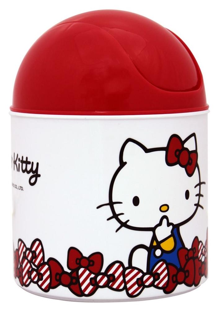 Hello Kitty 圓形垃圾桶