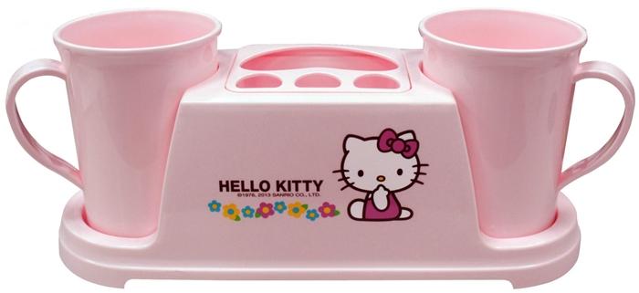 Hello Kitty 小花雙人洗漱架