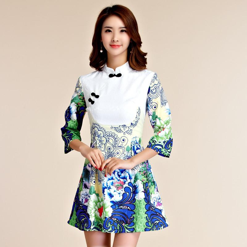 天使嫁衣【J2K9955】中大尺碼優雅顯瘦中袖改良式旗袍短禮服˙預購訂製款