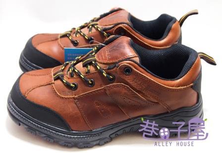 【巷子屋】Hanama悍馬 男款純正牛皮防穿刺鋼頭安全鞋 H級 [6521] 棕 超值價$1080