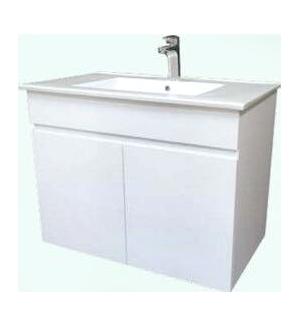 《營鏹衛浴》9060洗臉盆+浴櫃(吊櫃)+水龍頭+全部配件 寬60x深46x高62cm 100%防水PVC發泡板鋼琴烤漆
