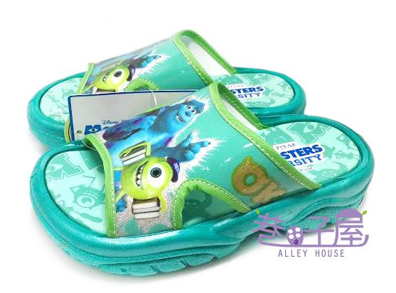 【巷子屋】怪獸大學 毛怪 大眼仔 童款造型拖鞋 [39005] 綠 MIT台灣製造 超值價$100