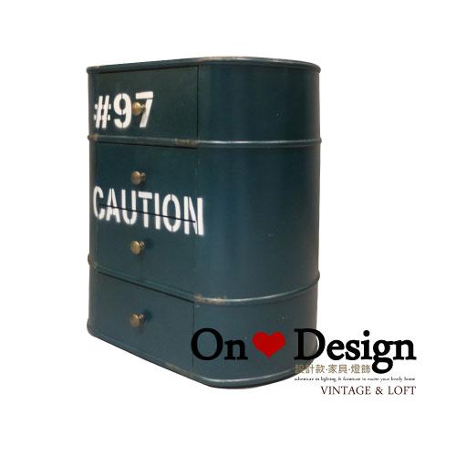 On ♥ Design ❀ LOFT 工業家具 RH風格 汽油桶 收納櫃 B款 綠色