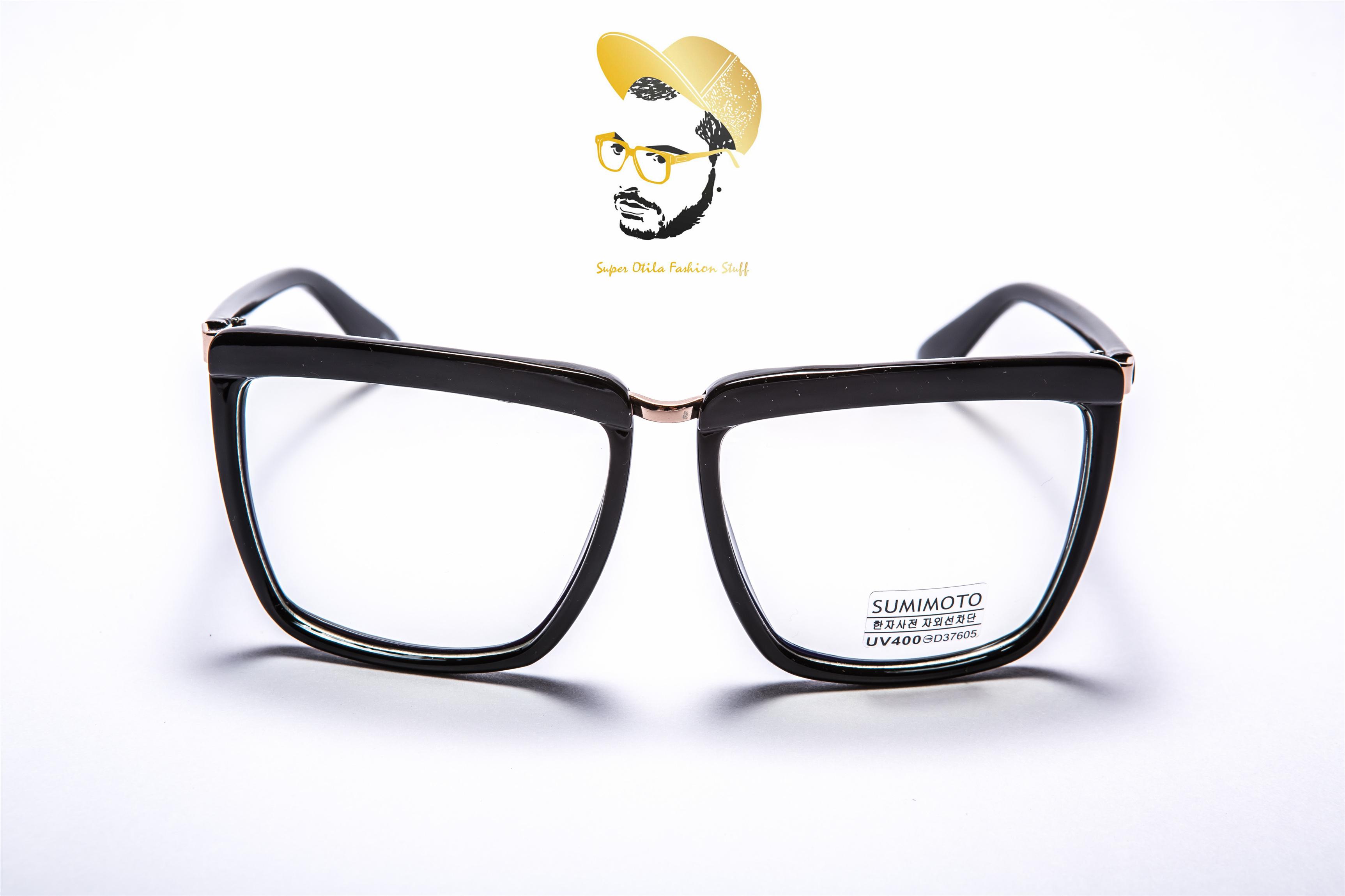太陽眼鏡 墨鏡 眼鏡  韓國 super otila 【2012】抗藍光鏡片-經典黑方框