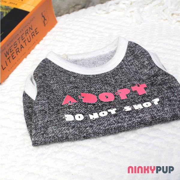 [NINKYPUP反光寵物衣]  領養代替購買 信念T-shirt  (毛孩款)