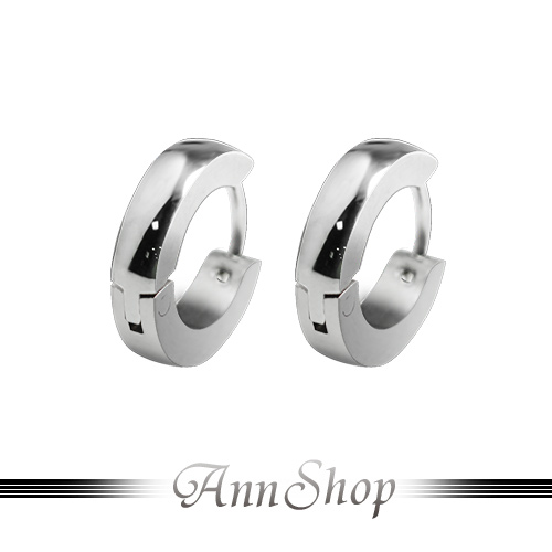 AnnShop【316L鋼‧素面C型耳飾白鋼耳環】白鋼飾品/情人禮物 e30000012-5