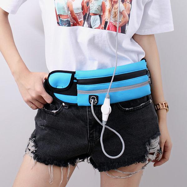 多功能夏季跑步運動腰包 跑步腰包 戶外休閒工具腰包 6 吋手機包(男女適用)