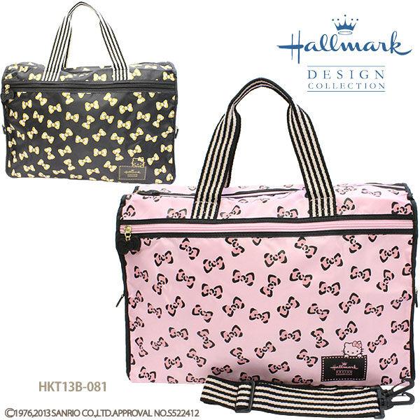 日本直送 Hallmark x Hello Kitty 聯名Sanrio 三麗鷗 凱蒂貓 行李袋 旅行袋 粉色