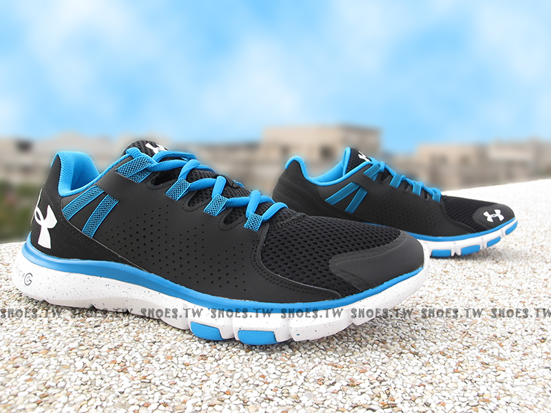 Shoestw【1264966-004】UNDER ARMOUR UA慢跑鞋 Limitless 黑藍 潑墨 訓練鞋