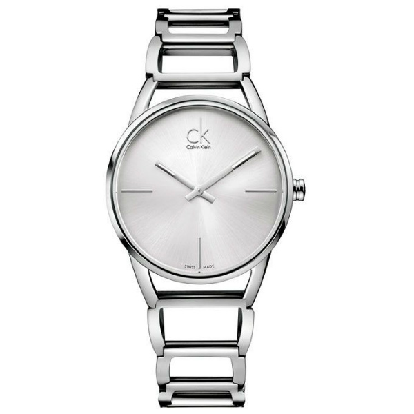 CK 璀璨系列(K3G23126)時尚鏤空手環腕錶/白面33.5mm
