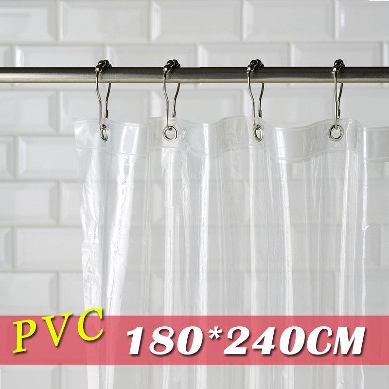 《喨晶晶生活工坊》m&m 默瑪 PVC全透明金屬扣防水浴簾 隔間簾門簾 阻擋冷氣暖氣 180*240