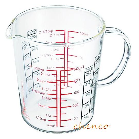 【晨光】HARIO玻璃手把量杯500ml (CMJW-500) 530324