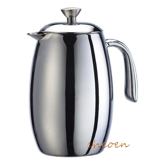 【晨光】Tiamo 哥倫比亞6杯份雙層不鏽鋼濾壓壺 0.8L(HA1536) 951115