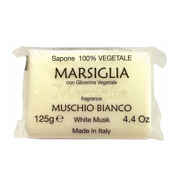 【晨光】義大利原裝進口 Iteritalia Marsiglia Line 甘油馬賽皂系列-白麝香 White Musk 125g