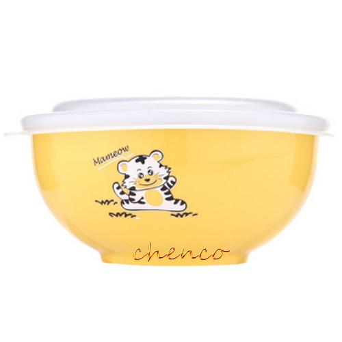 【晨光】Zebra斑馬牌 彩色隔熱兒童碗附湯匙-黃 (842023)