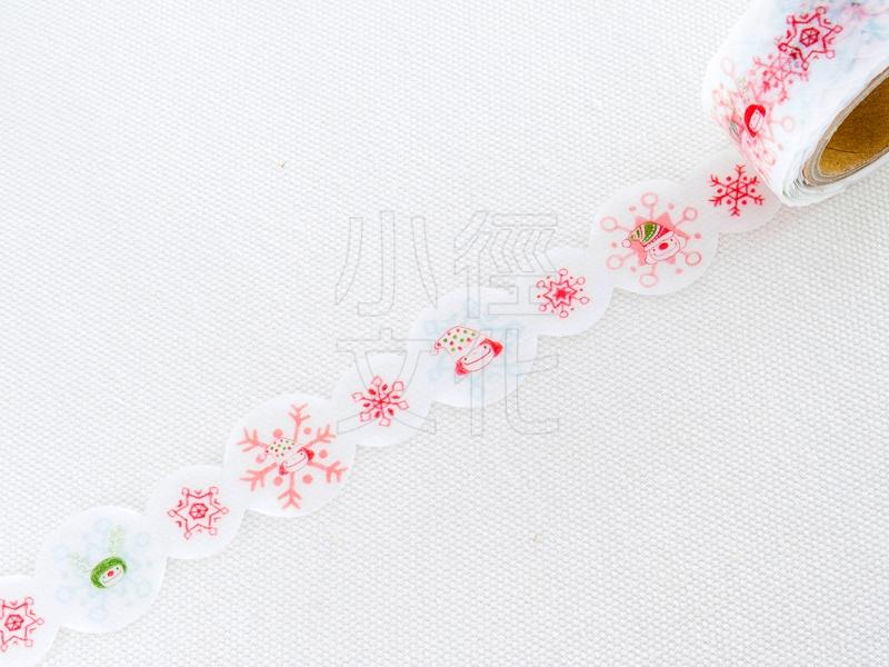 *小徑文化*|台灣原創紙膠帶|小徑文化x插畫家聯名系列_小蘑菇 和紙膠帶 - 冬日雪花 ( MTW-MU003 )