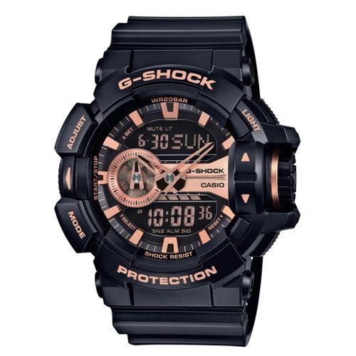 CASIO/G-SHOCK/完美街頭雙顯運動錶/黑/GA-400GB-1A4DR