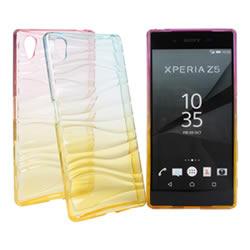 Ultimate- SONY Xperia Z5  清新漸層透彩波浪氣質軟質手機保護套 背蓋 手機殼 果凍保護套 軟殼 清水套 保護殼