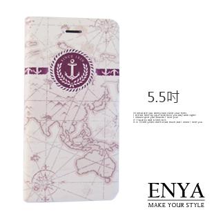 iPhone6+/6S+ Plus 5.5吋 現貨 航海地圖 彩繪皮套(郵局免運) Enya恩雅