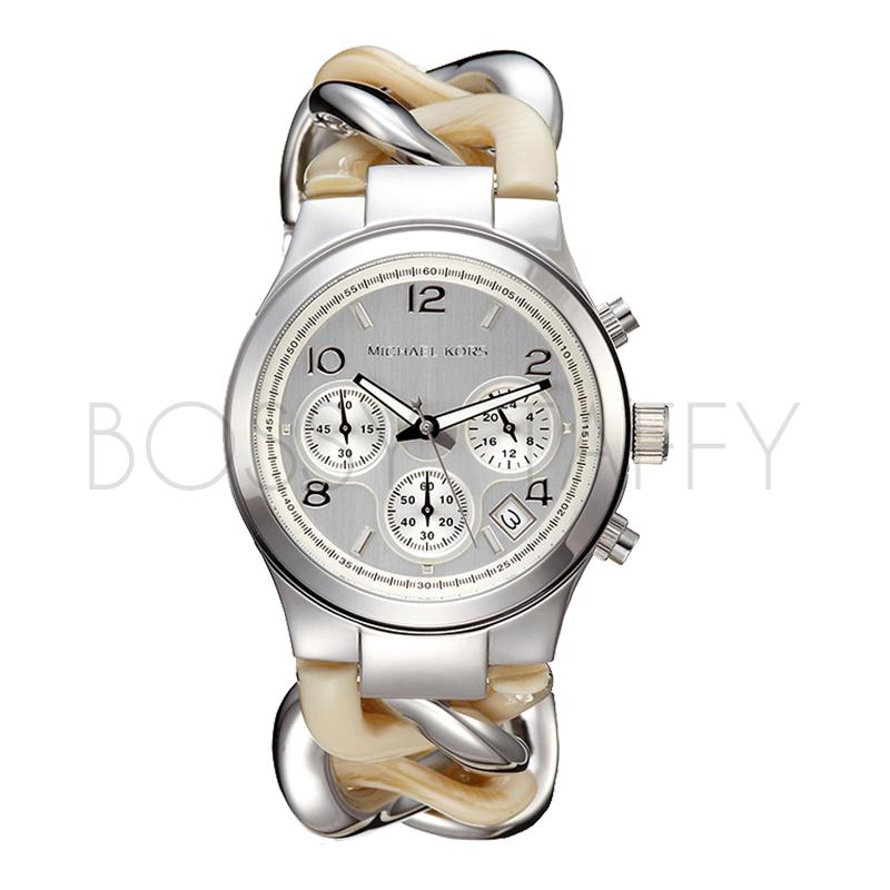 MK4263 MICHAEL KORS 經典銀色鎖鍊時尚手錶