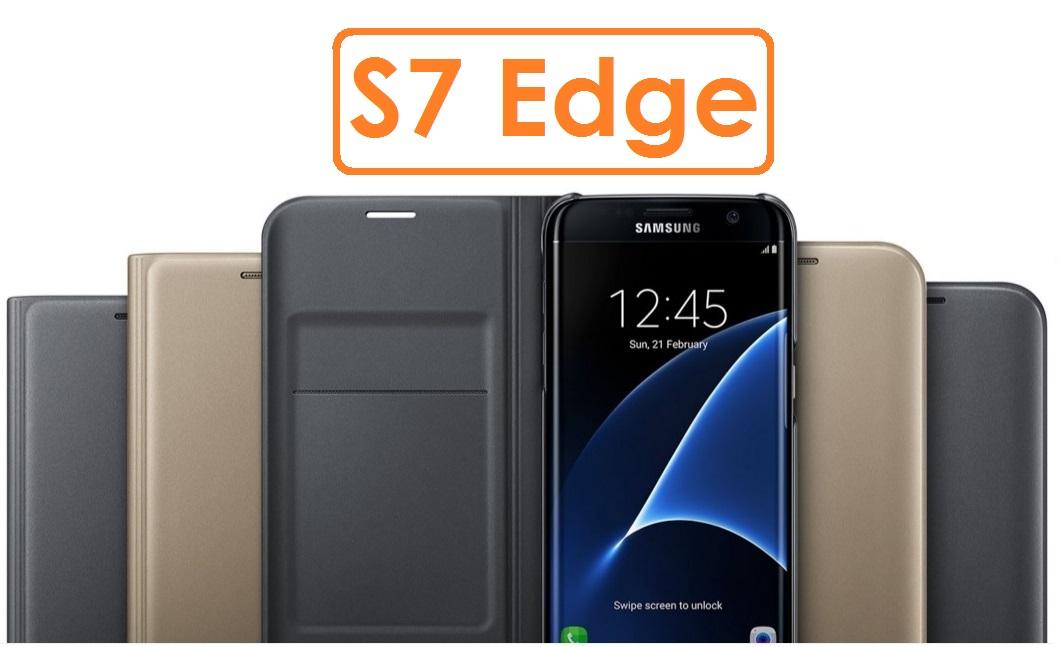 【原廠吊卡盒裝】三星 Samsung Galaxy S7 Edge 原廠 (皮革) 翻頁式皮套 保護套 原廠皮套