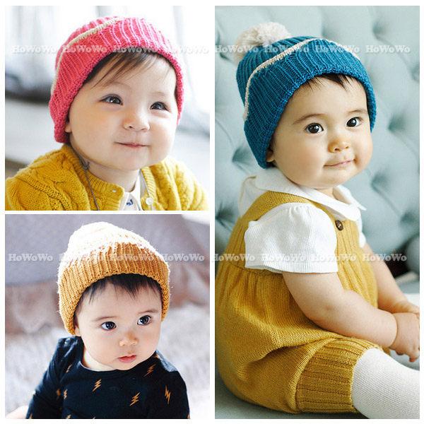 寶寶帽 翻邊針織毛線帽 嬰兒帽童帽 套頭帽 BU11123