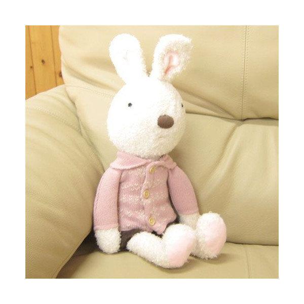 【真愛日本】*le sucre la creme法國兔*14112200068 針織毛衣咖褲娃L-白兔 娃娃 玩偶