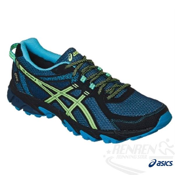 ASICS亞瑟士 男越野慢跑鞋 GEL-SONOMA 2 G-TX (深藍*黃)