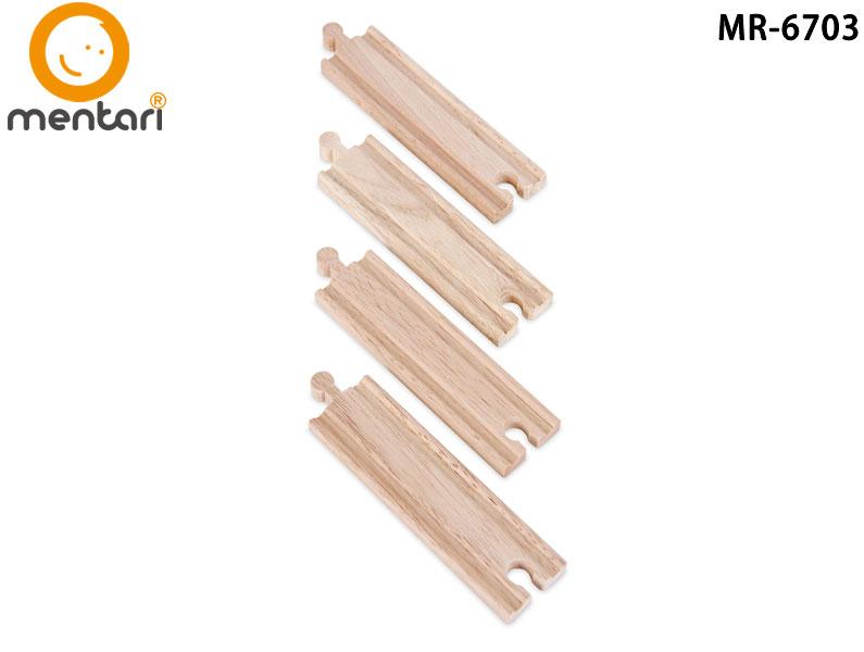 火車軌道配件-長型軌道 | Mentari 木頭火車系列