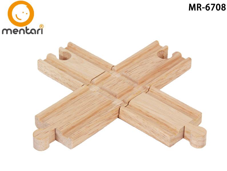 火車軌道配件-交叉路口 | Mentari 木頭火車系列