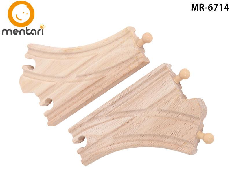 火車軌道配件-分叉型軌道 | Mentari 木頭火車系列