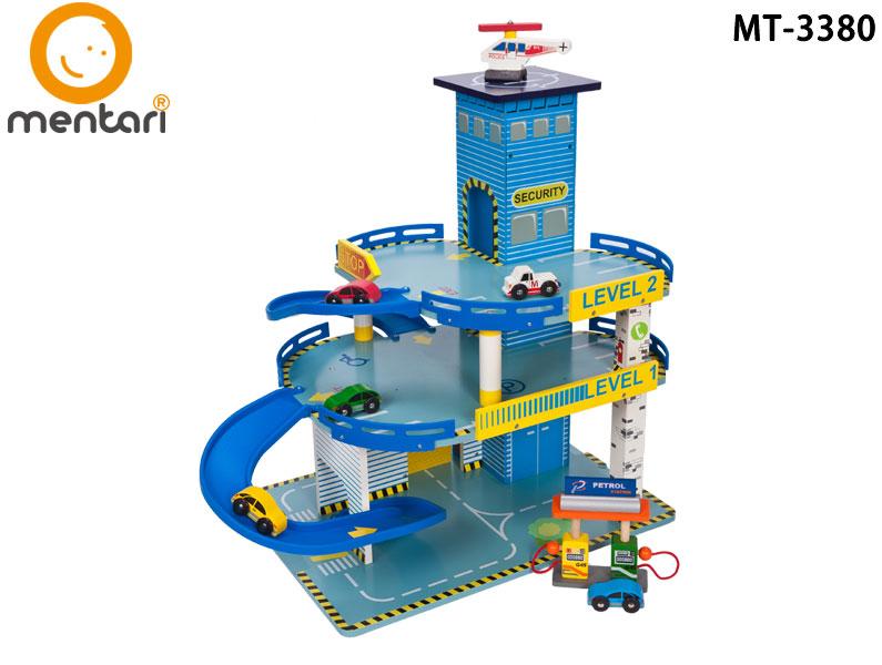 木製玩具 小汽車軌道 高樓層迴旋立體停車場 | Mentari 男孩系列