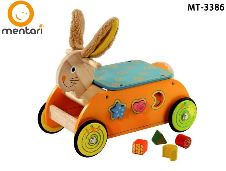 木製玩具 幼兒滑步平衡車  Mentari 教育系列兔兔造型益智滑步車